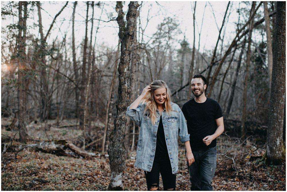 Minnesota Spring Engagement session in the woods