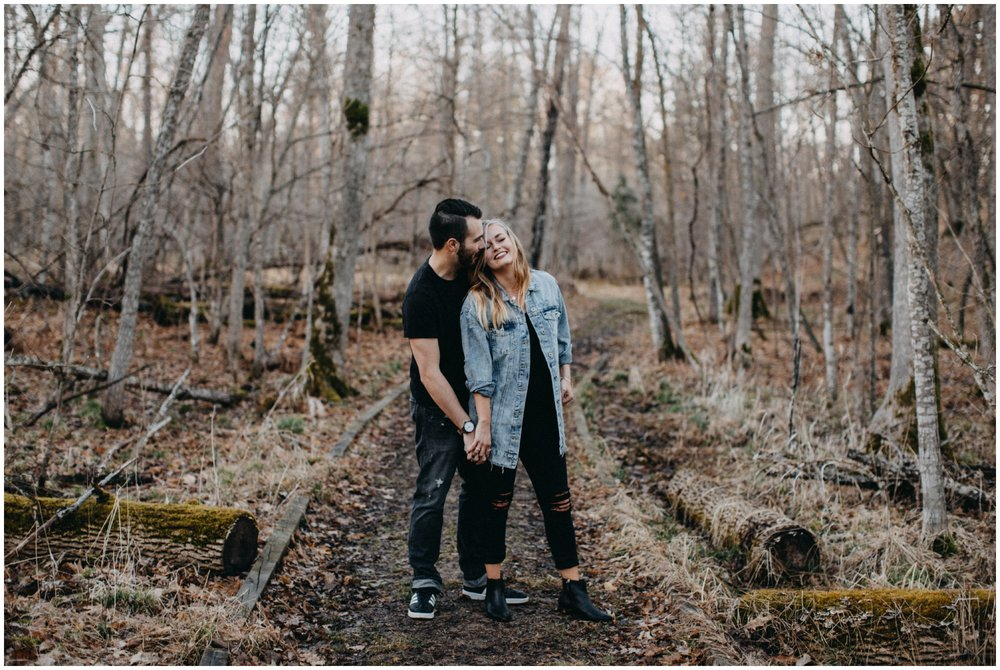 Woodsy engagement session in Brainerd MN