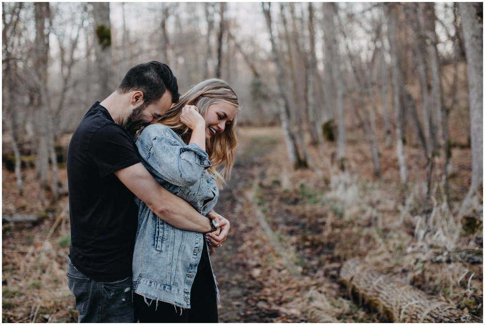 Intimate and emotional engagement session at Fritz Loven Park