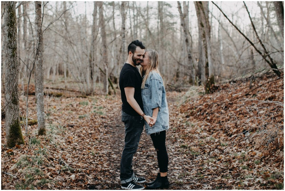 Candid engagement photography at Fritz Loven Park