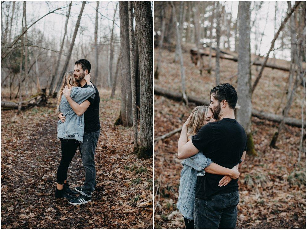 Intimate engagement session in the woods by Brainerd photographer Britt DeZeeuw