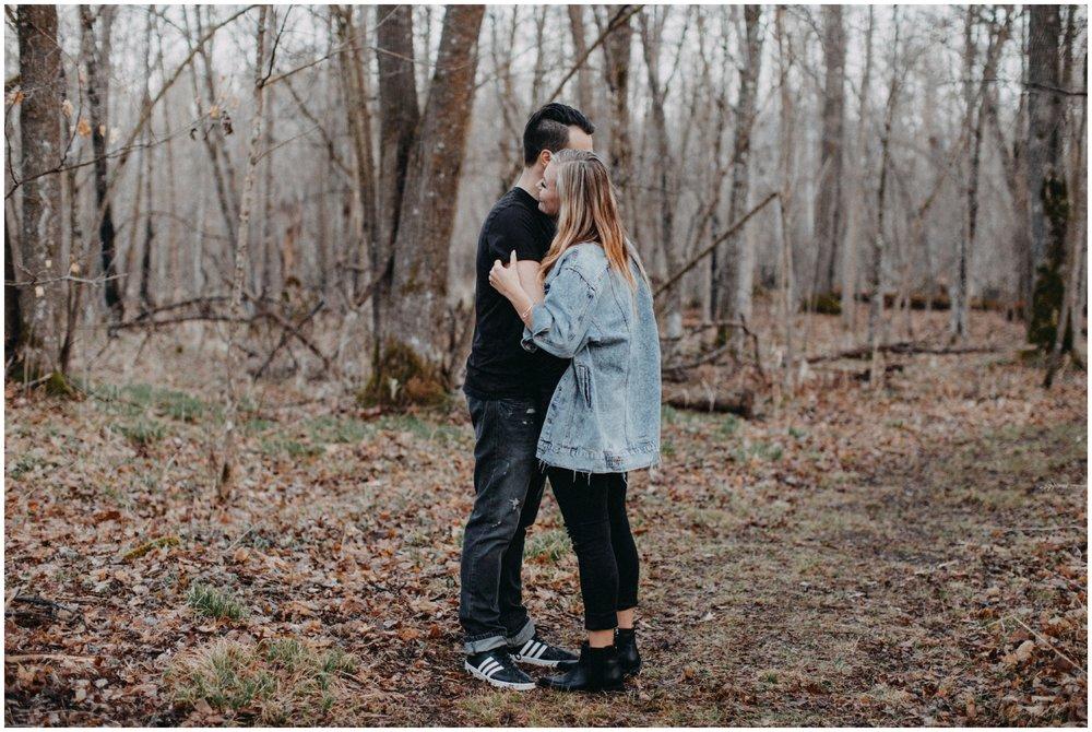 Northern MN engagement session in the woods by Brainerd wedding photographer Britt DeZeeuw