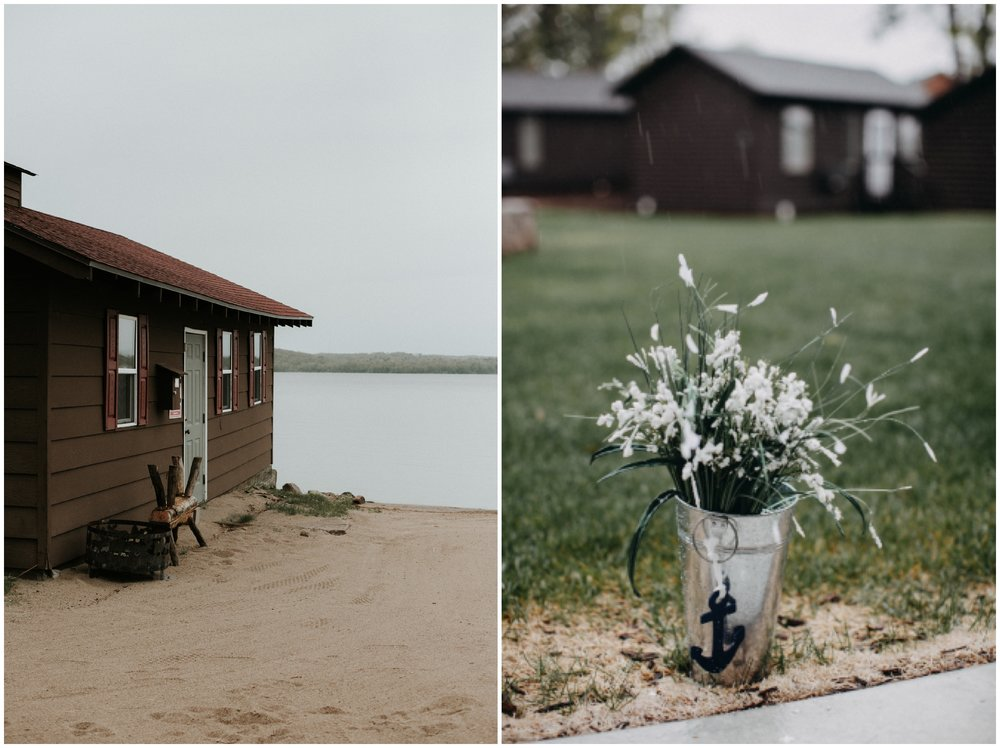 Rainy Gull Lake wedding in Brainerd Minnesota