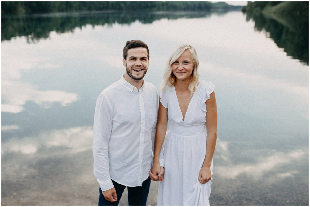 Modern engagement photography for unconventional couples