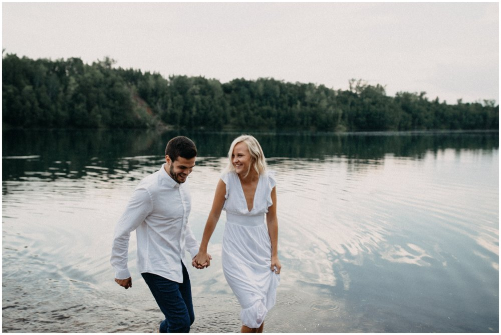 Summertime engagement session at the lake