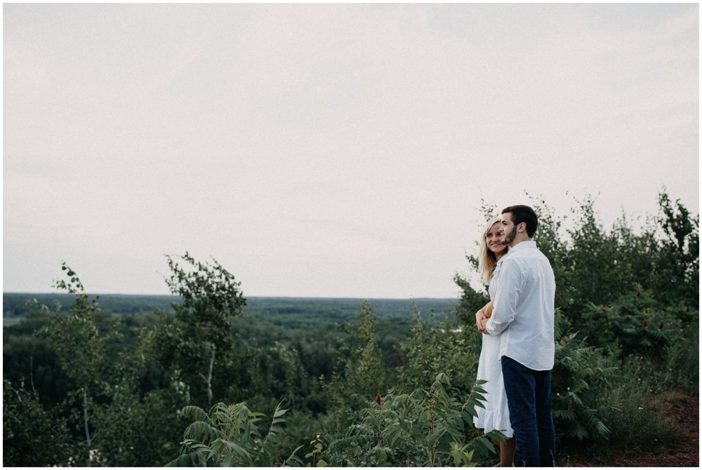Mountain top overlook engagement session photographed by Britt DeZeeuw