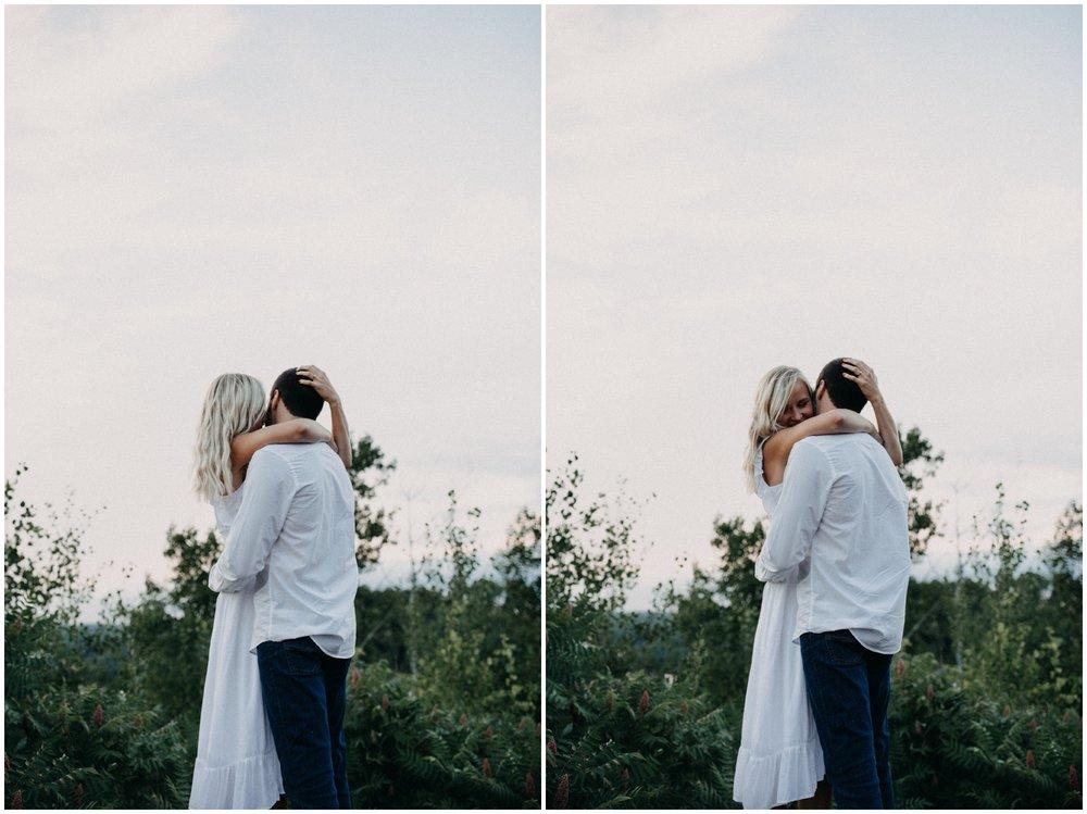 Intimate engagement session on Miner's mountain  wedding photographer Britt DeZeeuw