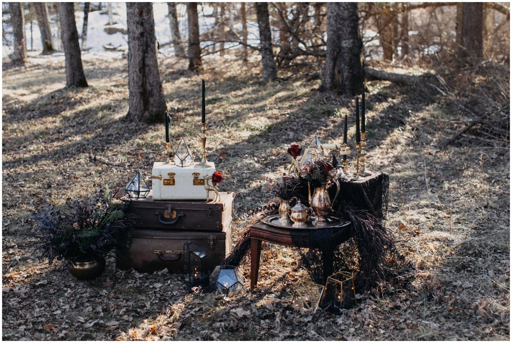 Romantic styled bridal shoot in Brainerd Minnesota