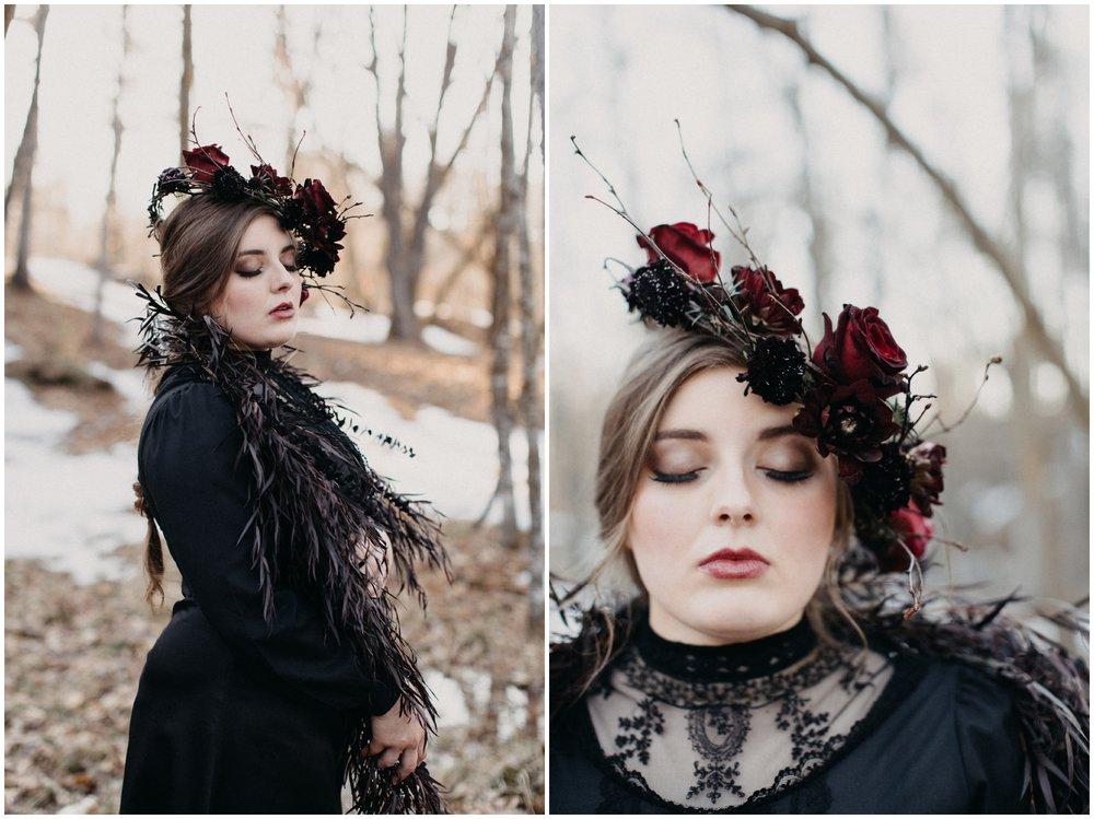 Dark and moody winter wedding inspiration by Brainerd photographer Britt DeZeeuw