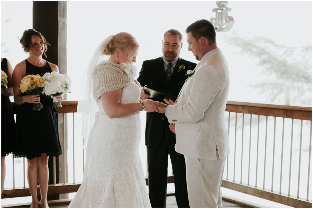 Intimate outdoor wedding ceremony at Madden's Resort on Gull Lake in Brainerd Minnesota