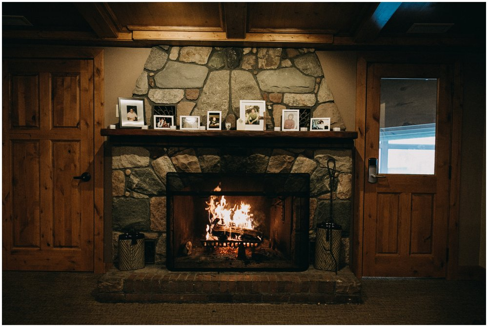Cozy spring wedding at Madden's Resort on Gull Lake