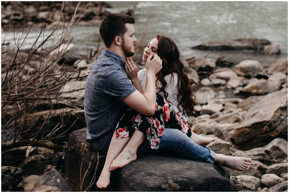 Emotional engagement photography at Rock Island State Park in Tennessee