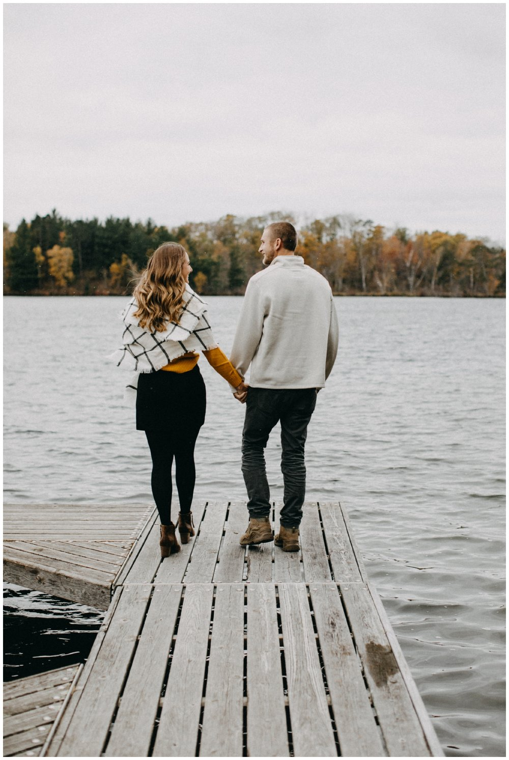 Cabin on the lake engagement session in Hackensack, Minnesota
