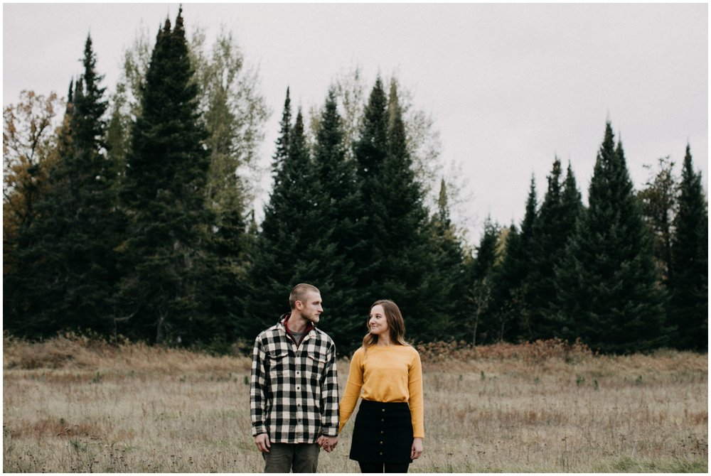 Modern engagement photography in MN northwoods