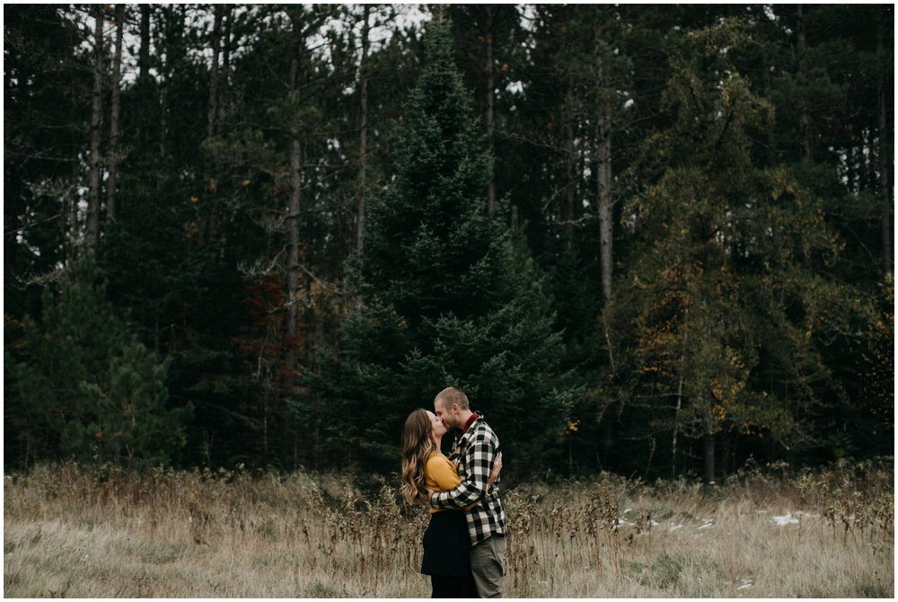 Intimate fall engagement shoot in northern Minnesota