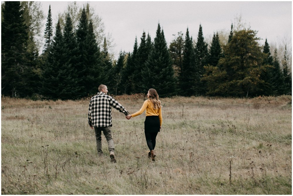Woodsy fall engagement session in Hacksack, Minnesota