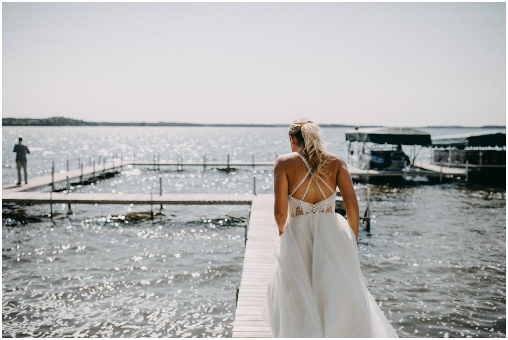 Lakeside wedding at Camp Foley in Pine River, Minnesota