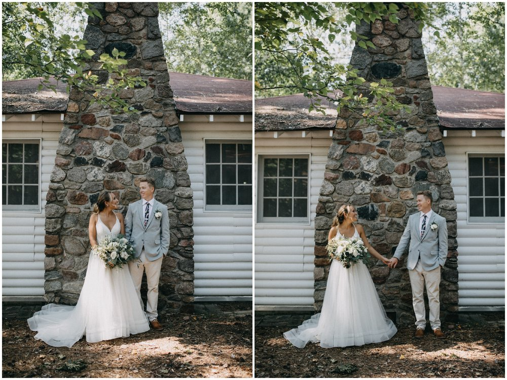 Charming summer cabin wedding at Camp Foley in Pine River Minnesota