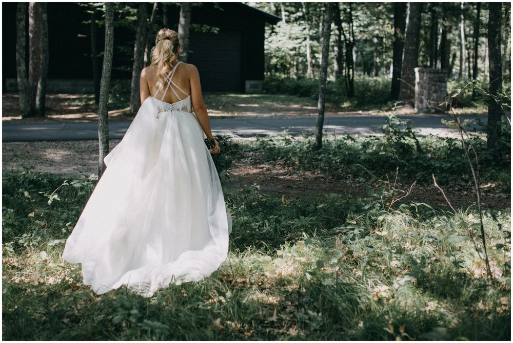 Enchanting forest wedding at Camp Foley in Pine River Minnesota photographed by Britt DeZeeuw