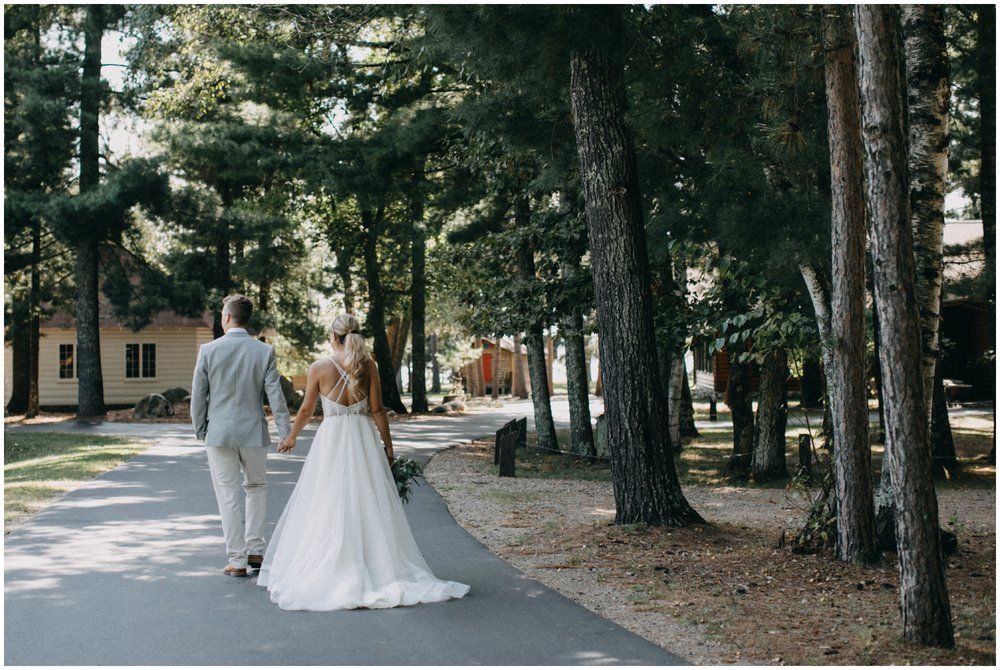 Romantic woodsy forest wedding at Camp Foley in Pine River MN by Britt DeZeeuw Photography