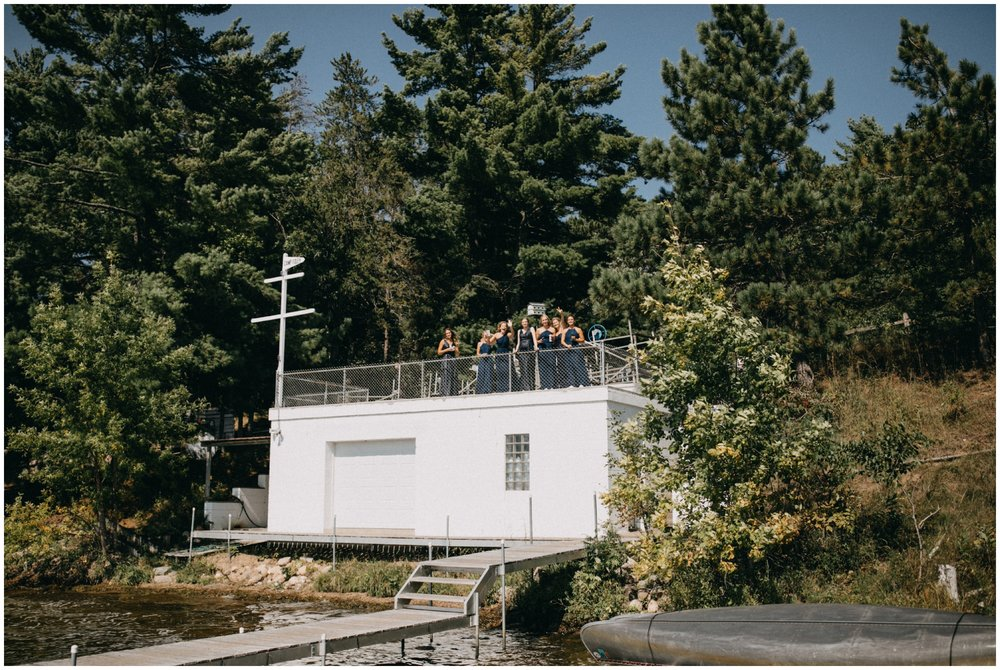 Summer camp wedding on the Whitefish Chain