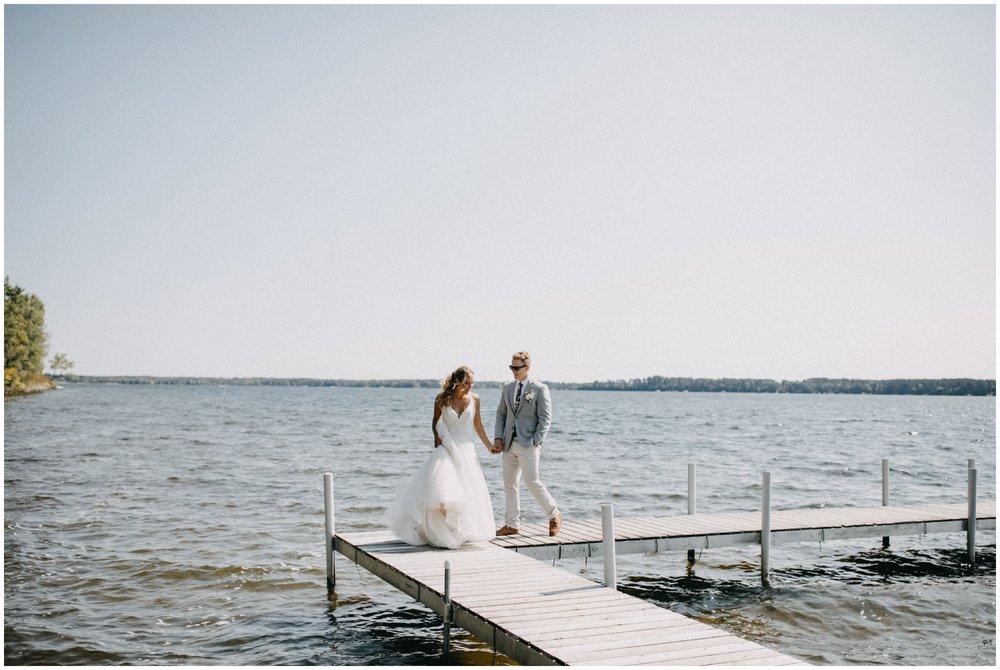 Summer wedding on Lower Whitefish Lake in Pine River Minnesota