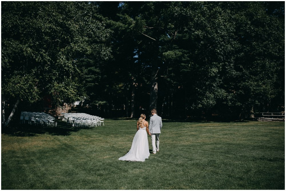 Summer wedding at Camp Foley in Pine River Minnesota