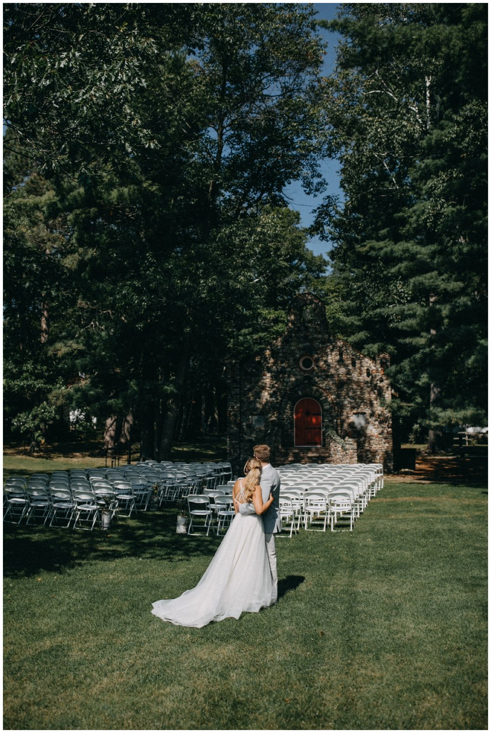 Romantic woodsy wedding at Camp Foley in Pine River Minnesota
