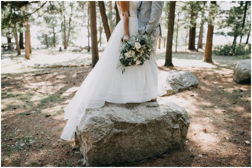 Whimsical woodsy forest wedding at Camp Foley in Pine River MN