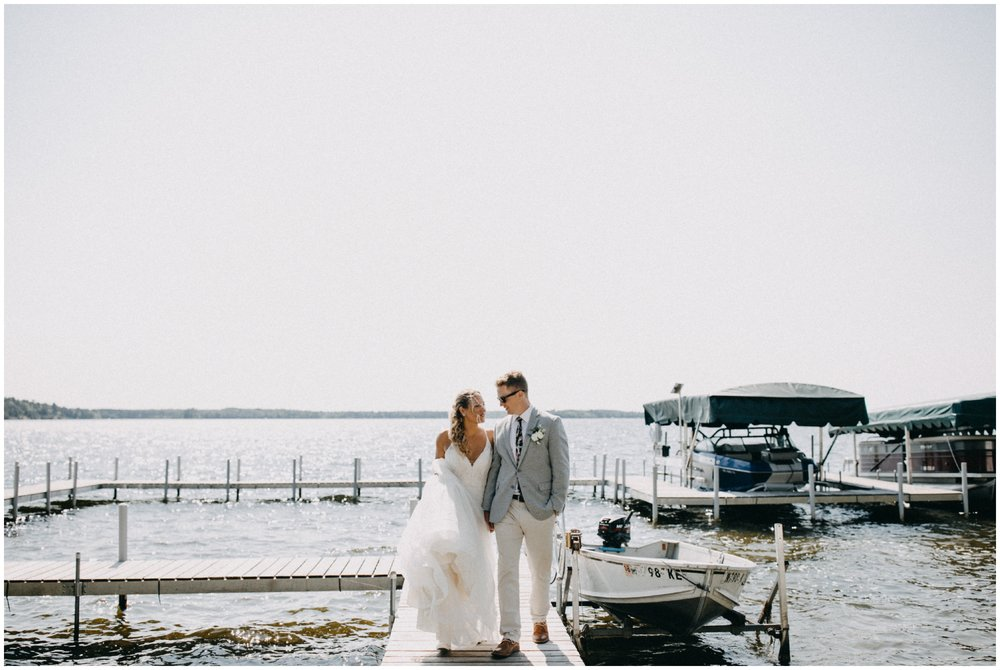 Summer camp wedding on the lake in northern Minnesota