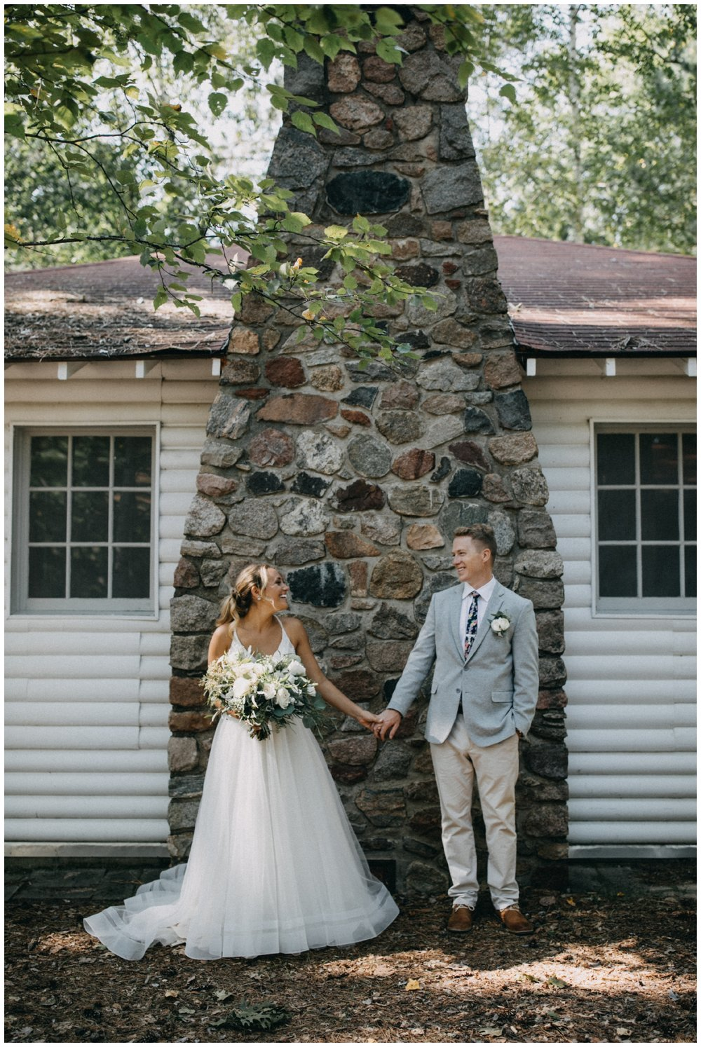 Summer wedding at Camp Foley in Pine River, Minnesota photographed by Britt DeZeeuw