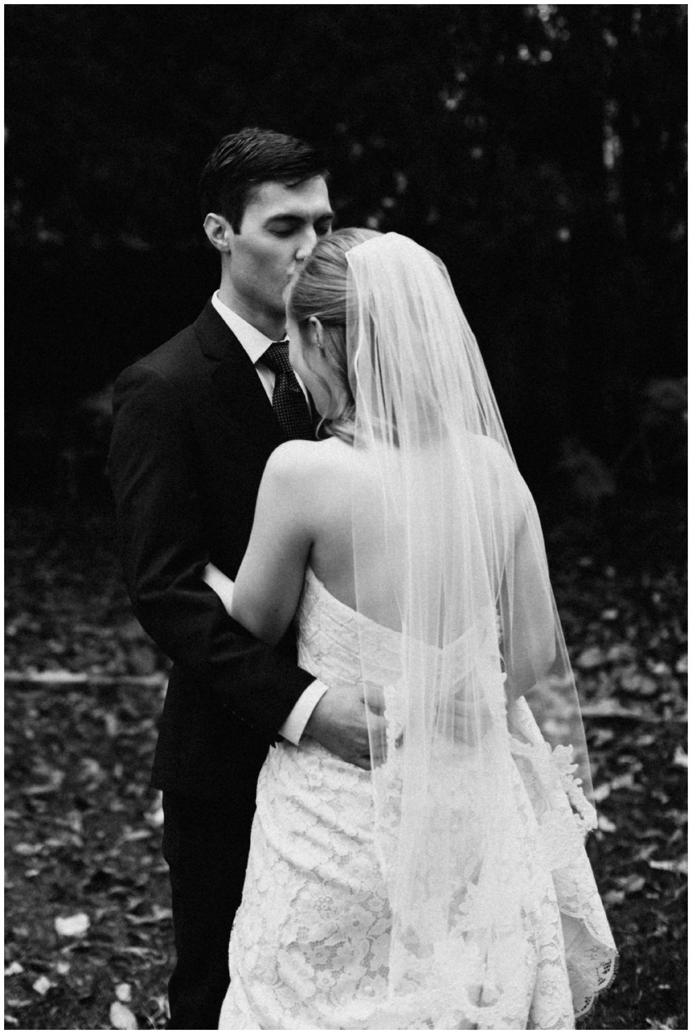 Timeless black and white wedding portrait at the St Paul College club photographed by Britt DeZeeuw