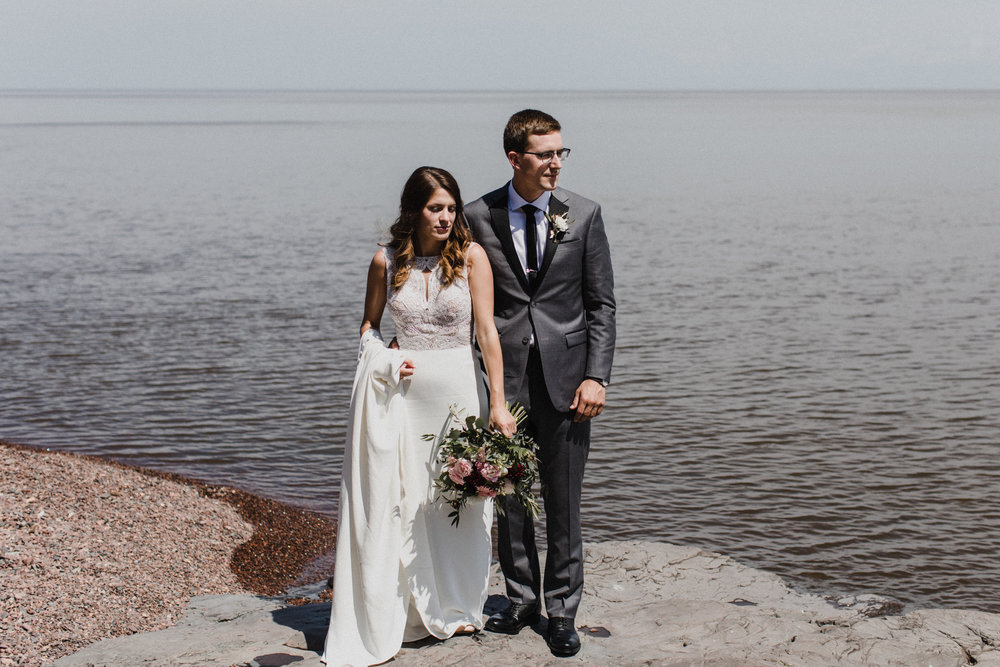 North Shore elopement in Duluth Minnesota
