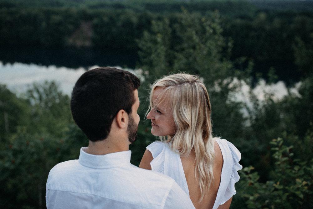 Engagement at Miner's Mountain in Crosby, Minnesota by Britt DeZeeuw