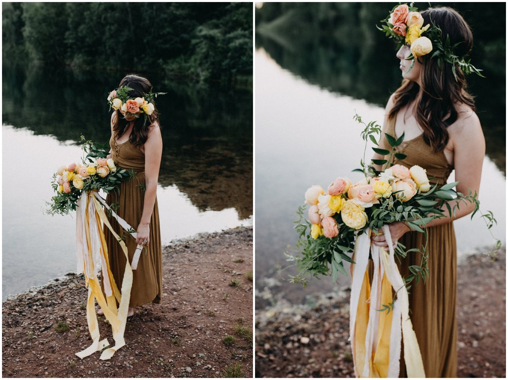 Boho inspired summer portrait session with Fern and Floret