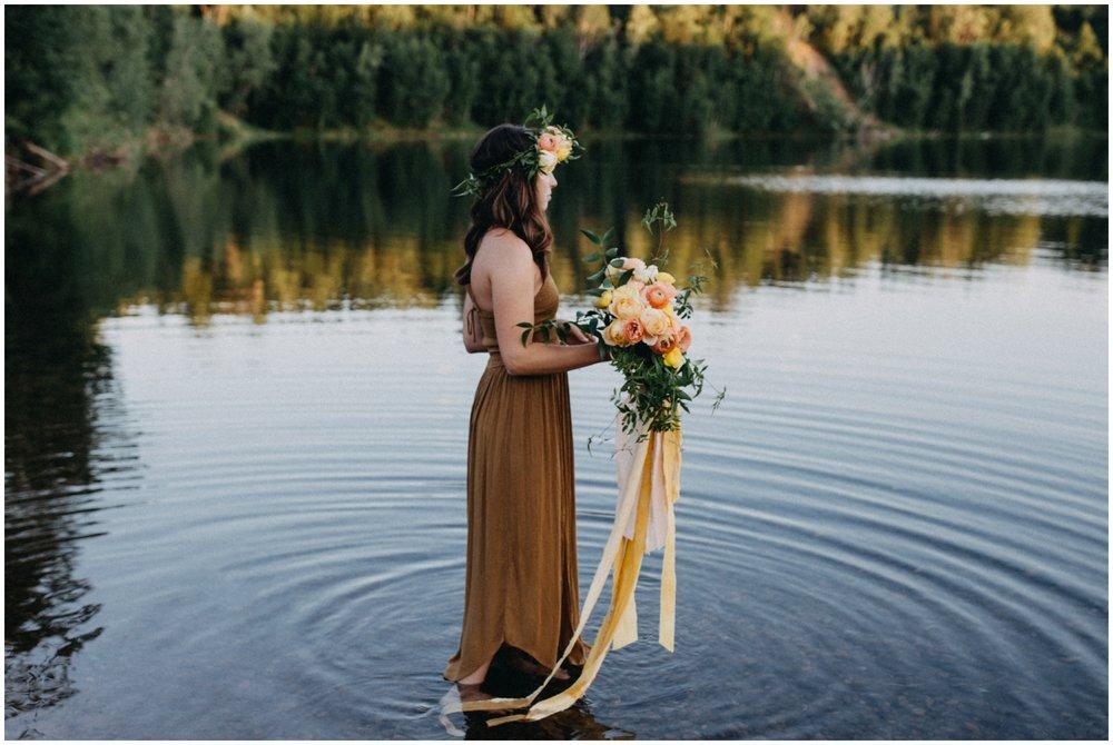 Fine art portrait session at the lake by Brainerd Minnesota photographer Britt DeZeeuw
