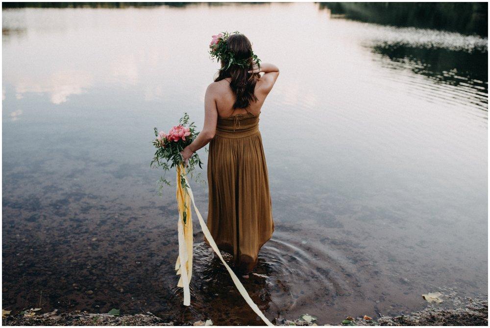 Female portraiture in the water by Brainerd photographer Britt DeZeeuw