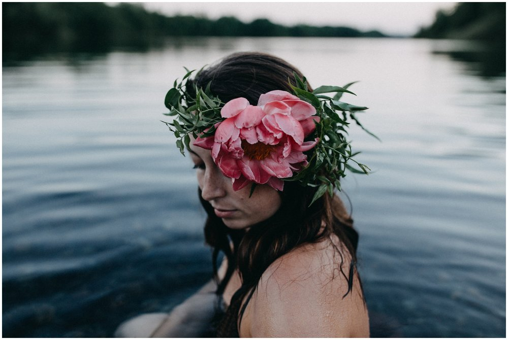Water portrait session by fine art photographer Britt DeZeeuw in Brainerd Minnesota