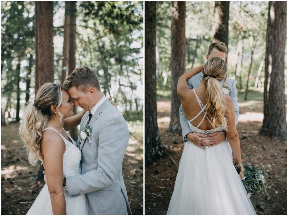 Romantic forest wedding at Camp Foley in Pine River, Minnesota by Britt DeZeeuw photography