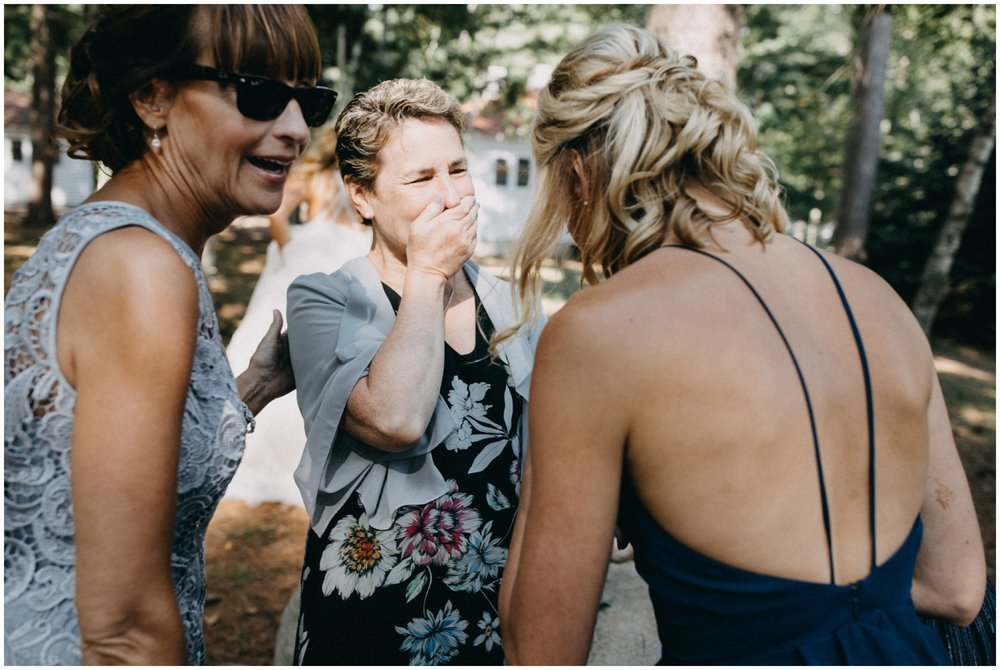 Emotional and unscripted wedding photography at Camp Foley in Pine River MN