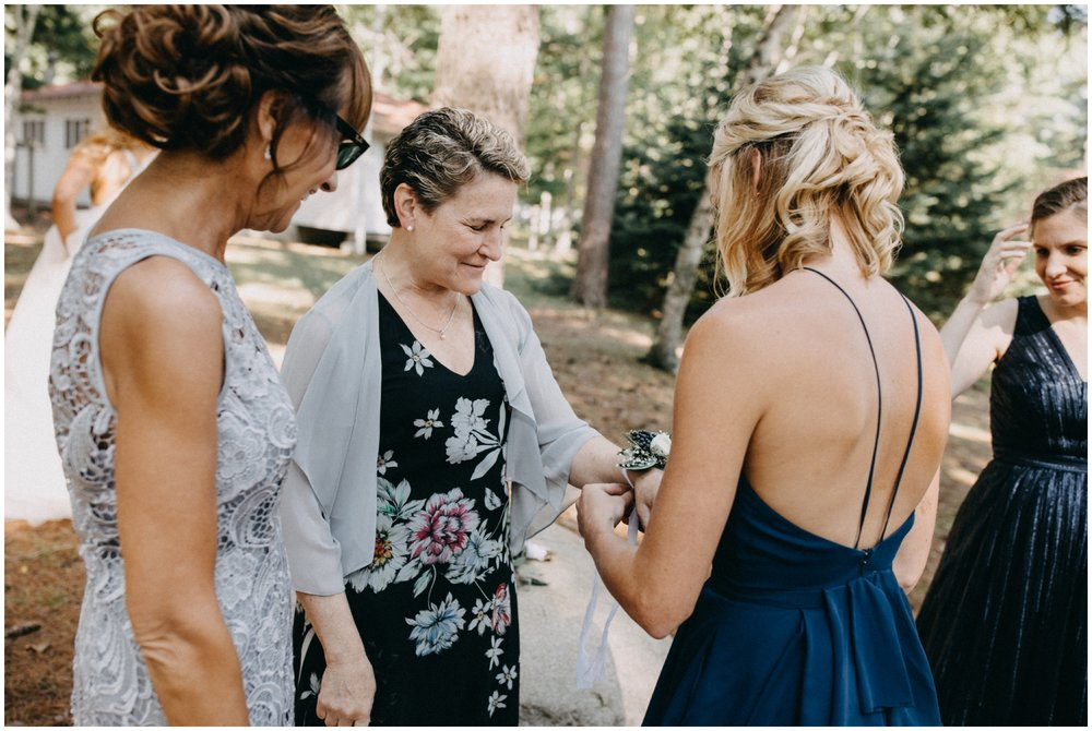 Natural family photos at Camp Foley wedding in Pine River MN