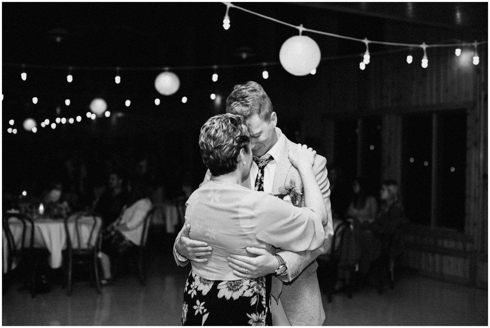 Emotional wedding dance at Camp Foley