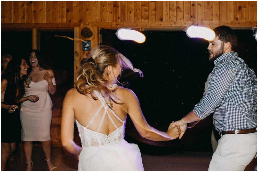 Wedding reception dance at Camp Foley in Pine River
