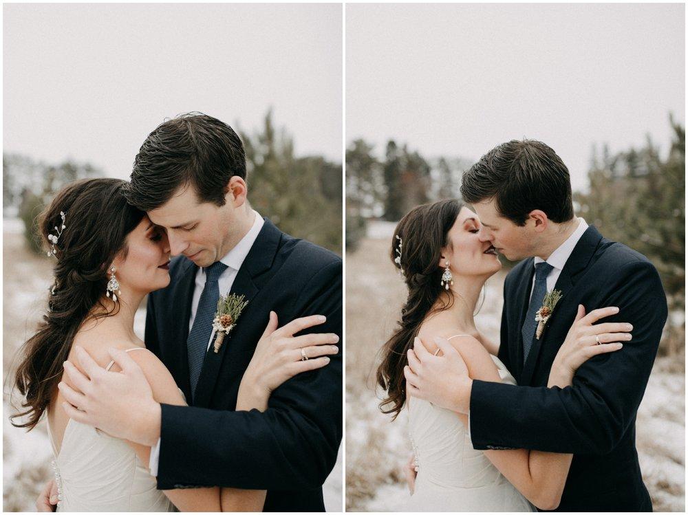 Crosslake Minnesota winter wedding