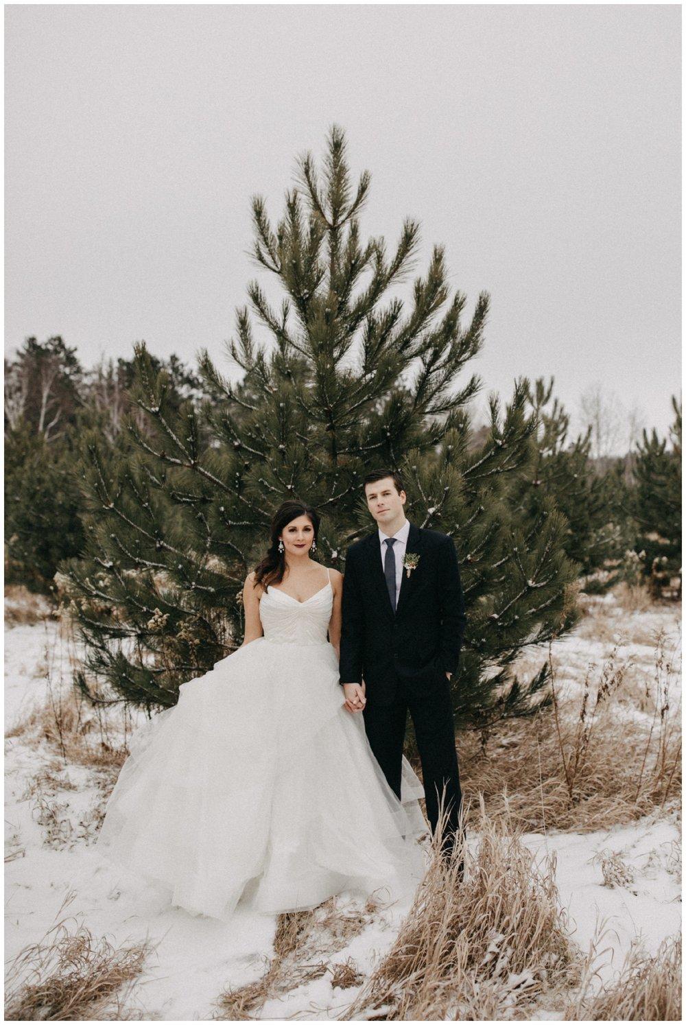 Pine Peaks Crosslake Minnesota winter wedding