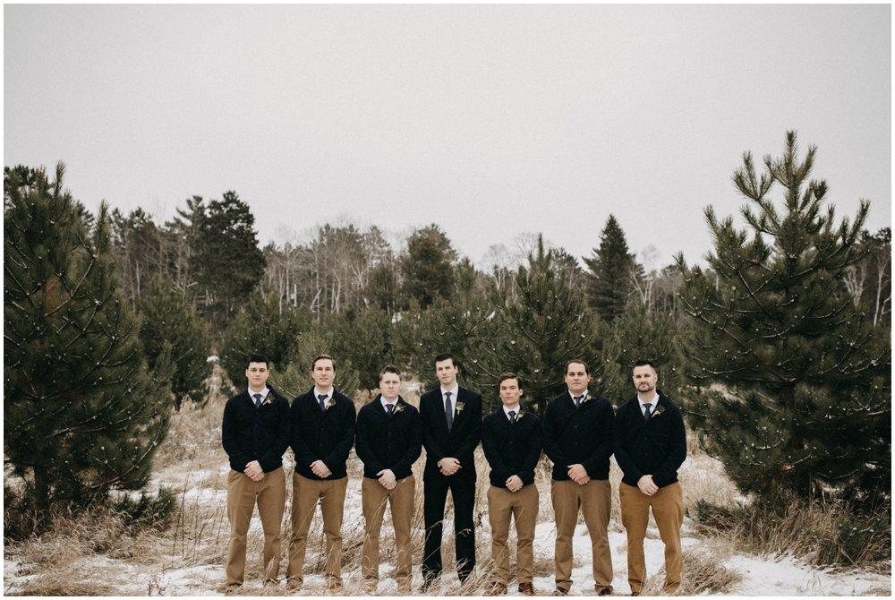 Woodsy winter wedding at Pine Peaks in Crosslake Minnesota