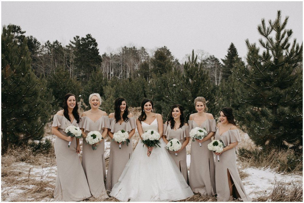 Northern Minnesota winter wedding at Pine Peaks in Crosslake Minnesota