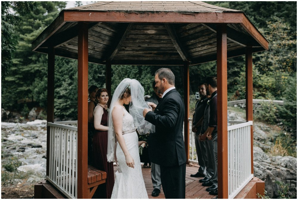 Waterfall destination wedding in Duluth Minnesota