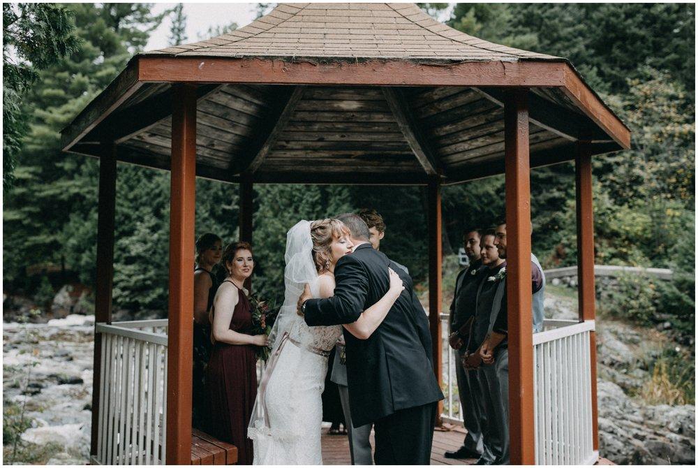 Duluth Minnesota waterfall destination wedding
