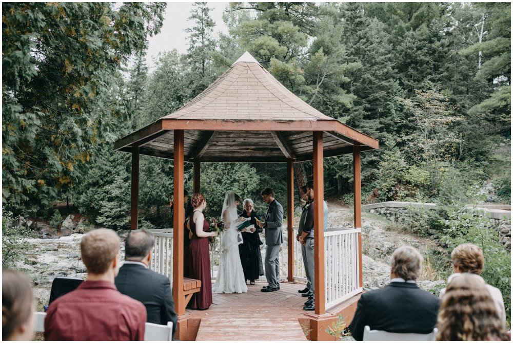 Intimate wedding at Lester River in Duluth Minnesota